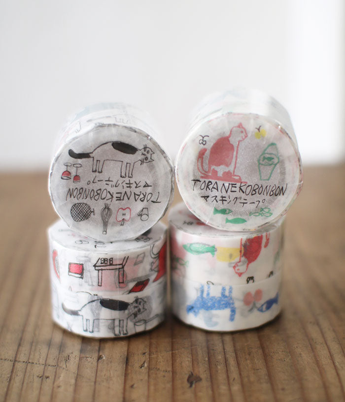 TORANEKO BONBON Cat Masking Tapes