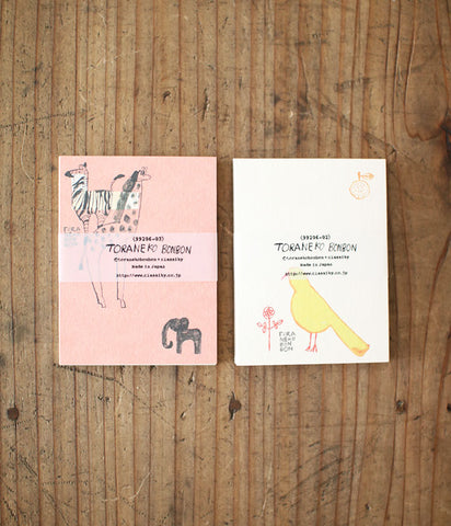 TORANEKO BONBON Animal Small Note Cards