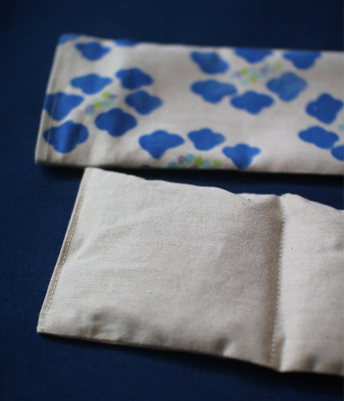 Warm Eye Pillow with Japanese Wood Mist {Blue Buds}