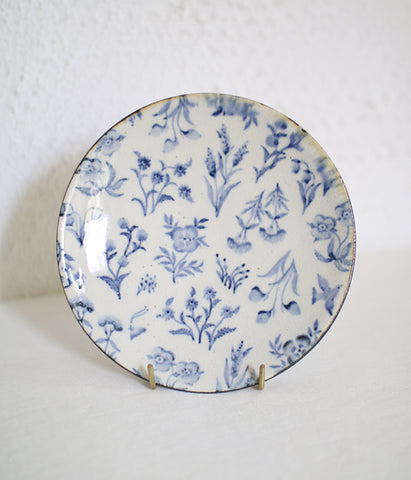 Blue Wildflower Plate 17cm