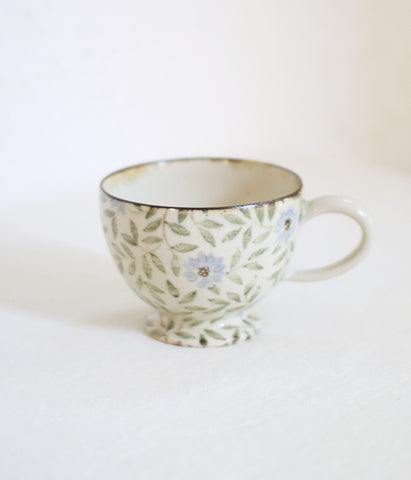 [SOLD OUT] Pale Blue Flowers Mug