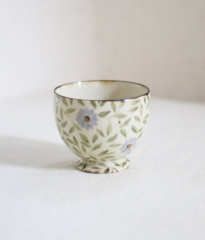 Pale Blue Flower Tea Cup