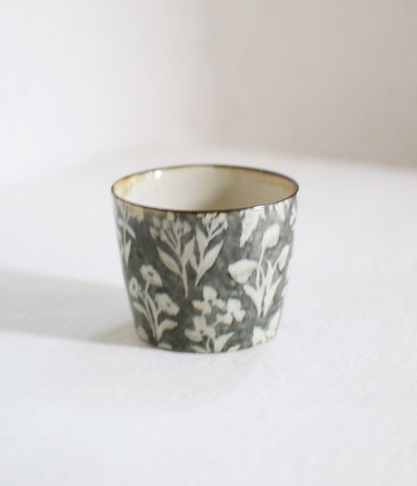 Wildflower Mono Green Tea Cup