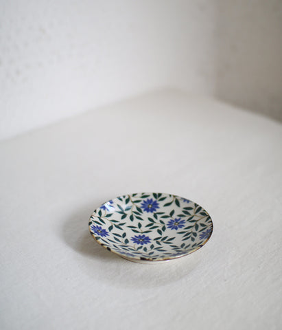 Dark Blue Flower Mini Plate