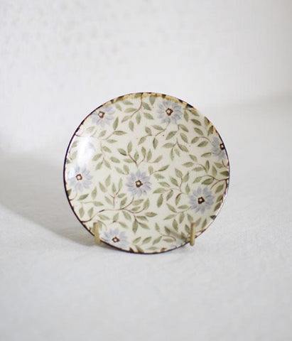 [SOLD OUT] Pale Blue Flower Mini Plate