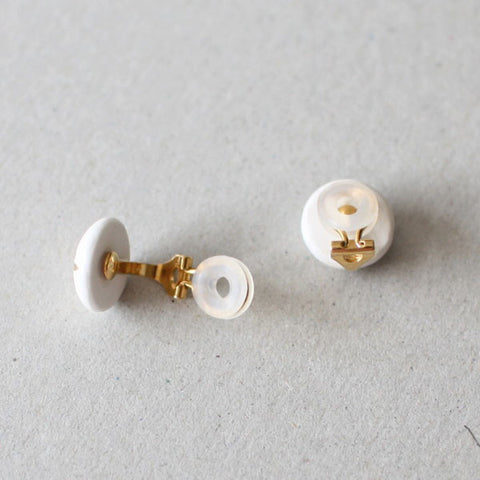 Kimiko Suzuki Porcelain Tablet Clip Earrings #C04