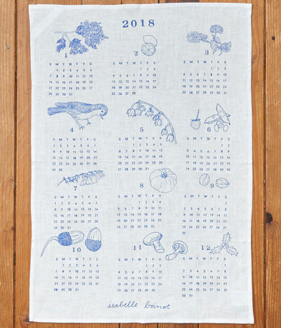 fog linen work Calendar Cloth 2018 {Seasonal Features}