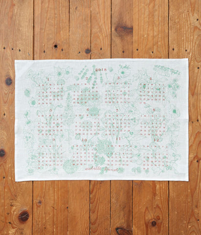 fog linen work Calendar Cloth 2018 {Plants}