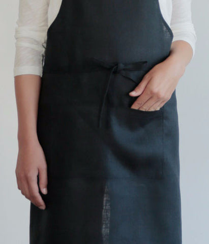 fog linen work Full Apron {Navy}
