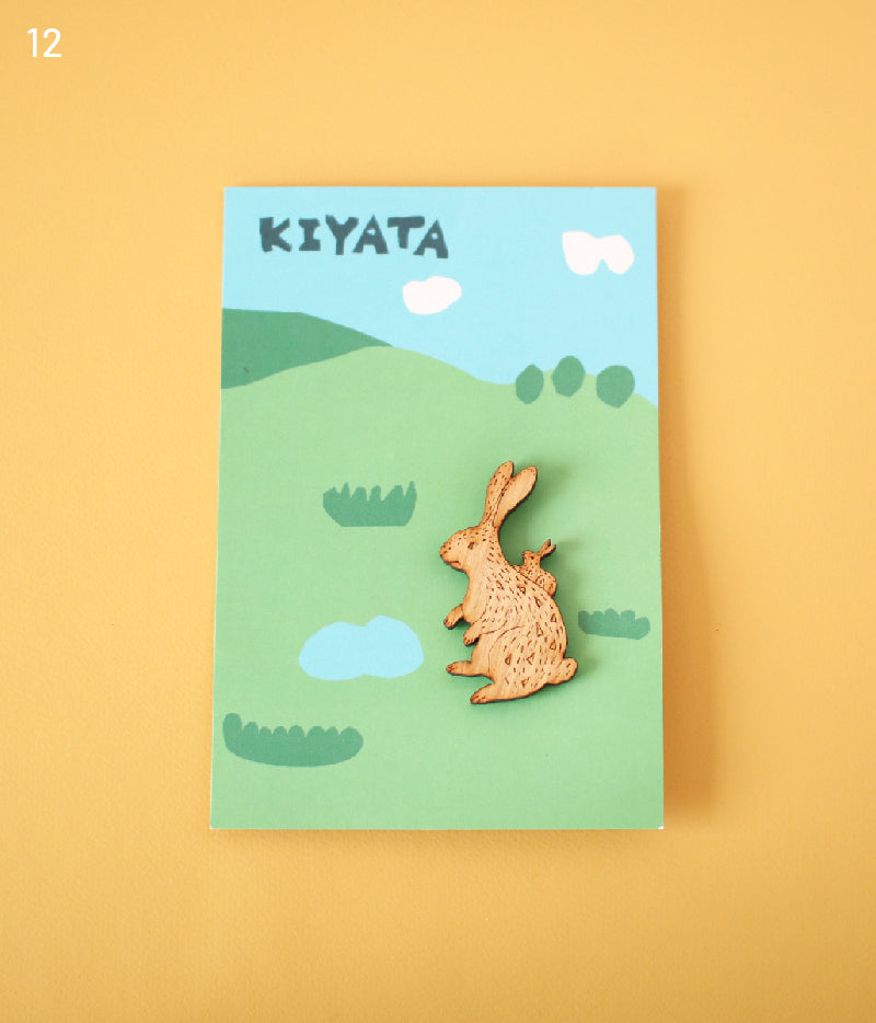 Lasercut Wooden Brooch {Rabbit}