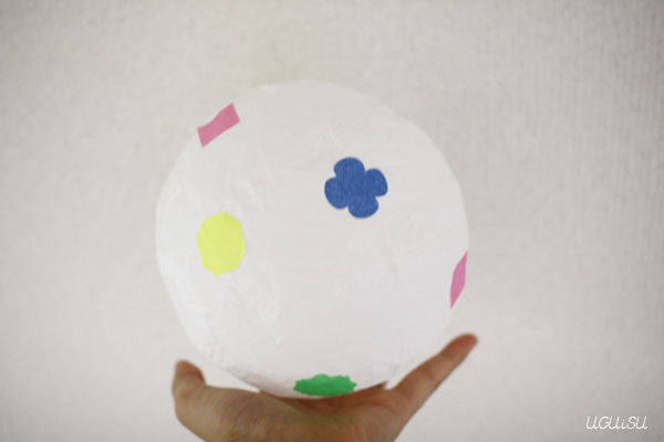 Japanese Paper Balloon {White} Decoration Set