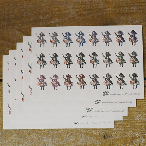 Mihoko Seki Cat & Little Matchstick Girl Stickers 120 pcs