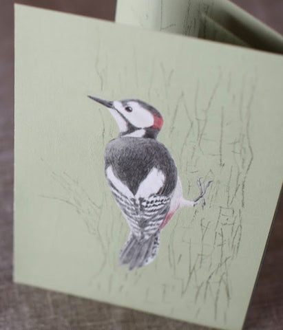 Tobidustry Pop-Up Bird Card {Woodpecker}