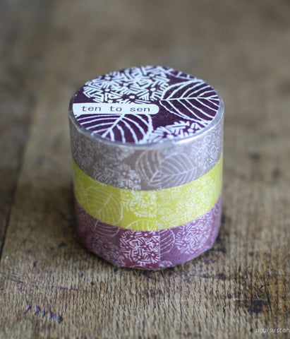 Ten-to-sen Washi Tape 3 Roll Set {Hydrangea}