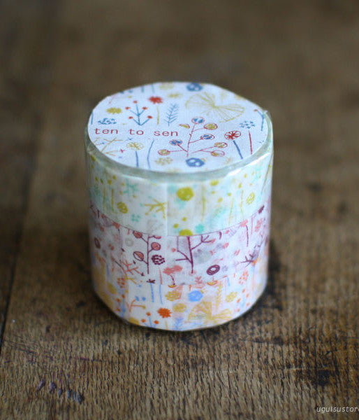 [SALE] Ten-to-sen Washi Tape 3 Roll Set {Butterfly in Bush}