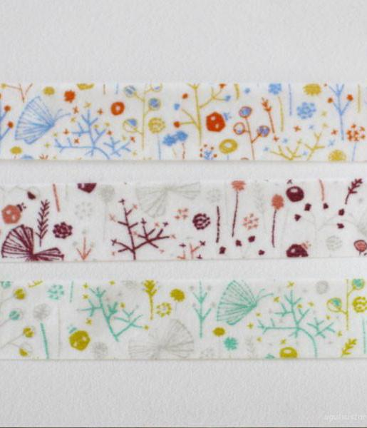 Ten-to-sen Washi Tape 3 Roll Set {Butterfly in Bush}