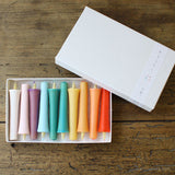 "Japanese Colour Candles ""TOIRO"" Set of 10"