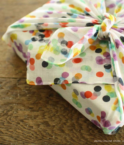 Yonagadou Handkerchief / Furoshiki Multi Cloth {Dots}