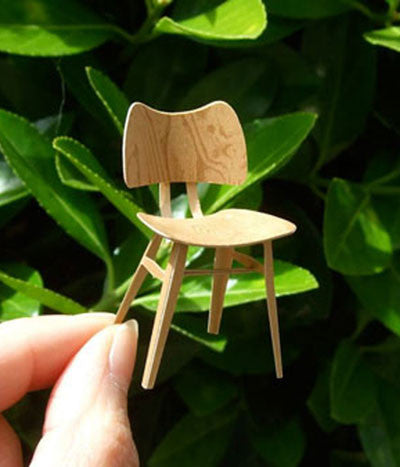 1:16 scale paper model chair {Butterfly chair}