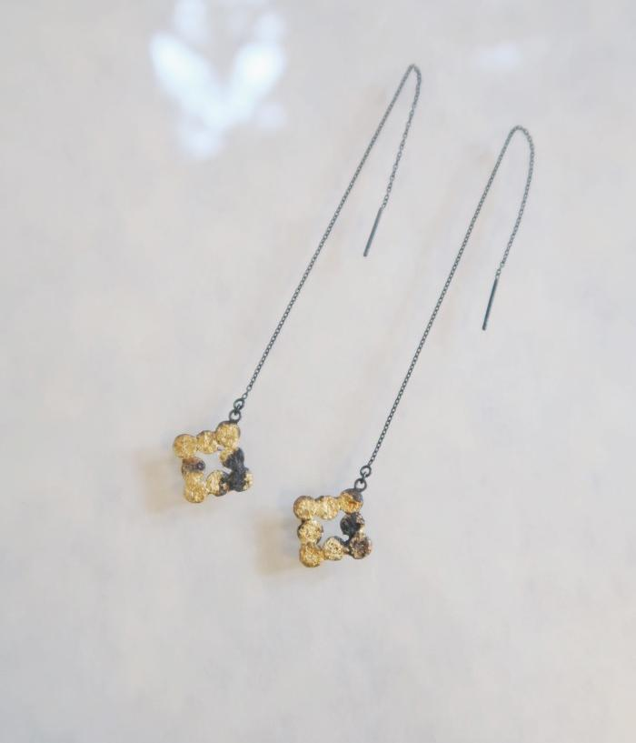 "Jona Tenten ""+"" Chain Earrings"