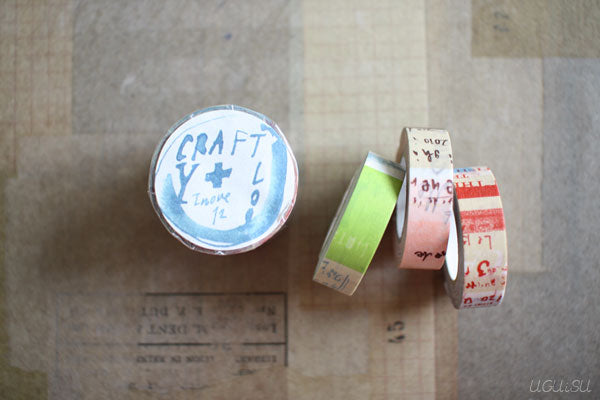 CRAFT log Graffiti Washi Tape 3 Roll Set
