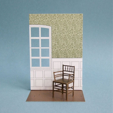 1:16 scale paper model chair {Sussex chair}