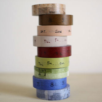 CRAFT log Washi Tapes Pack of 3