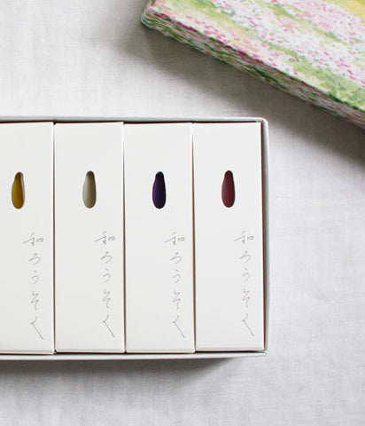 hitohito Japanese Candles {Spring Colours}