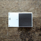 "Drop Around ""fusen"" Sticky Notes {08: ""sumi"" charcoal / Square}"