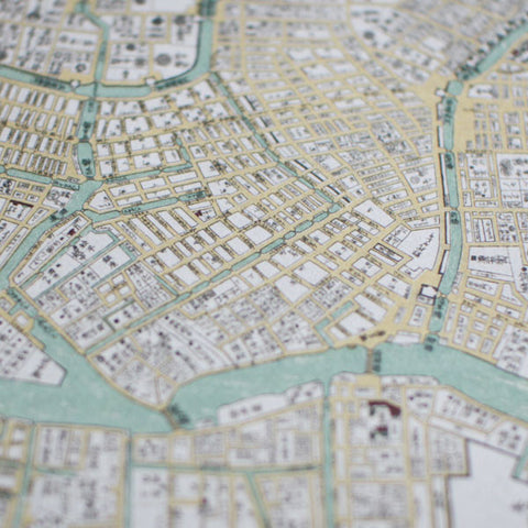 Edo Ancient Tokyo Map Letter Sets