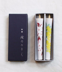 Flower Painted Japanese Candles {Mimosa & Sakura}