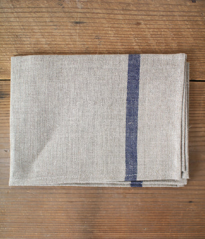 fog linen work Kitchen Cloth/Tea Towel with Navy Line