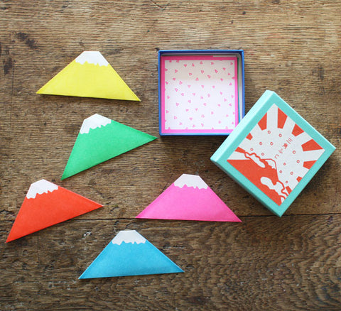Triangle Mt. Fuji Washi Paper Notes