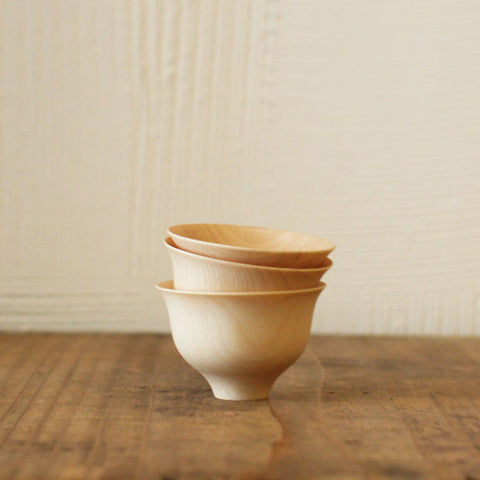 TOHKA Wood Sake Cups {Natural}