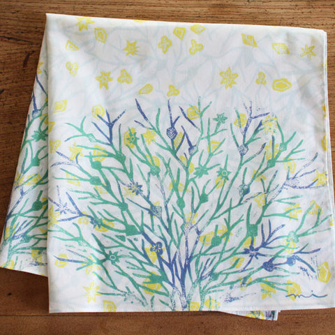 HARVEST handkerchief {snow branch}