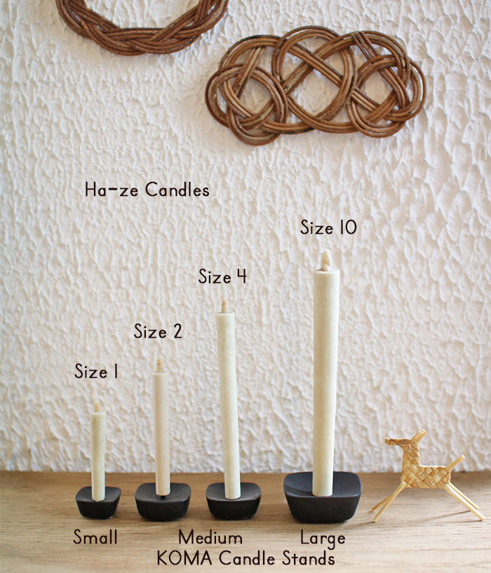 Ha-ze Sumac Japanese Candles {size #4, box of 3}