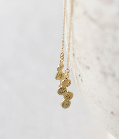 Jona Tenten Thread Chain Earrings {Gold}