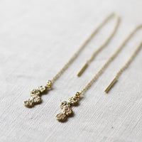 Jona Tenten Thread Chain Earrings {Gold} (backorder)
