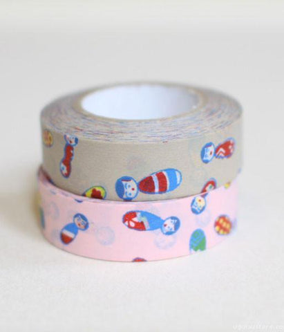 Yonagadou Washi Tape Single {Kokeshi Doll}