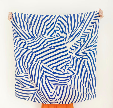 Furoshiki Wrapping Cloth - LINK x Lucinda Newton-Dunn {Stripe Blue}