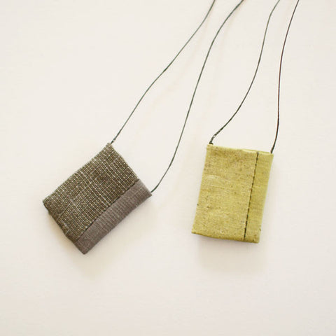 [SOLD OUT] Tadashi Maruyama Amulet Pouch Obi Textile Necklace