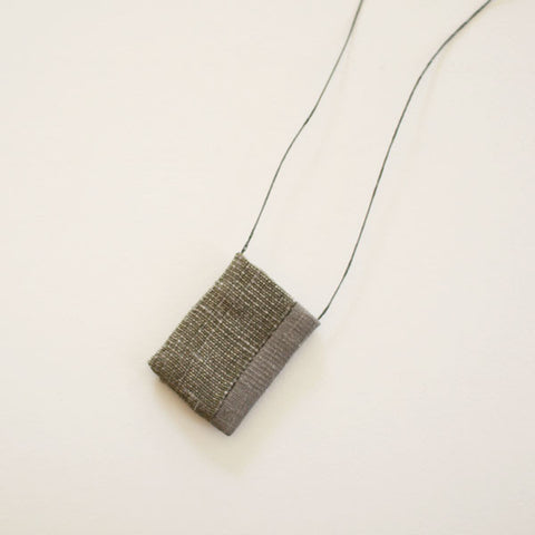 SOLD OUT - Tadashi Maruyama Amulet Pouch Obi Textile Necklace