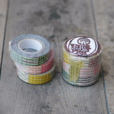 Mihoko Seki Masking Tape 3 Roll Set {Stripe & Dots}