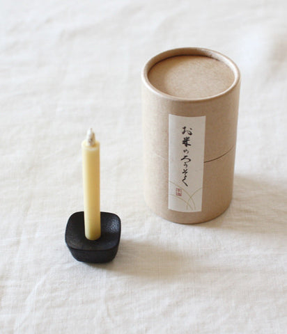 Japanese Rice Wax Candles - Okome no Rousoku {Size #1}