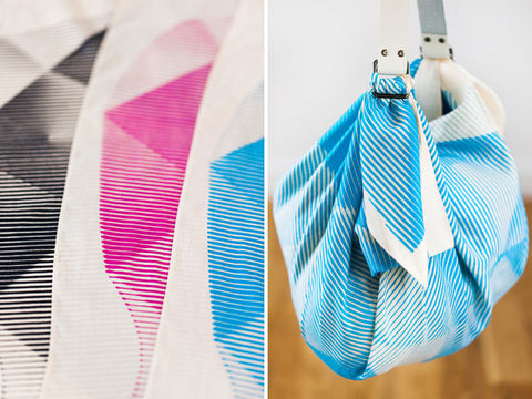 Furoshiki Wrapping Cloth - LINK x Lucinda Newton-Dunn {Folded Paper Blue}