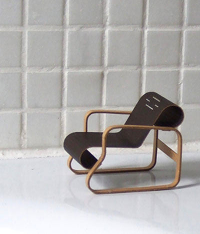 Paper model chair {Paimio chair (Armchair 41)}