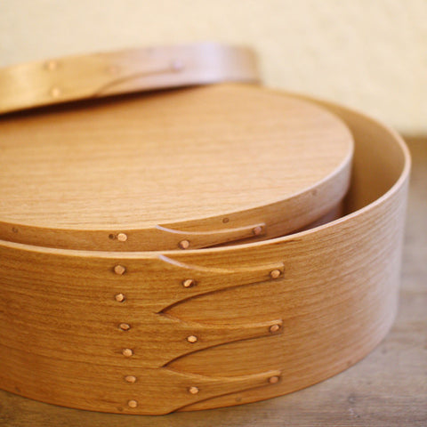 Oval Box Sakura Wood #7