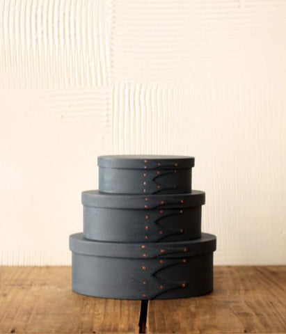 Oval Box Milk Paint Finish {Navy}