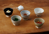 Iga Small Bowl with Hexagon Foot {Shino}
