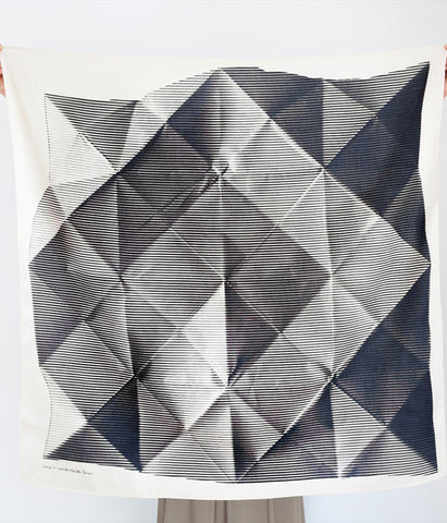 Furoshiki Wrapping Cloth - LINK x Lucinda Newton-Dunn {Folded Paper Black}